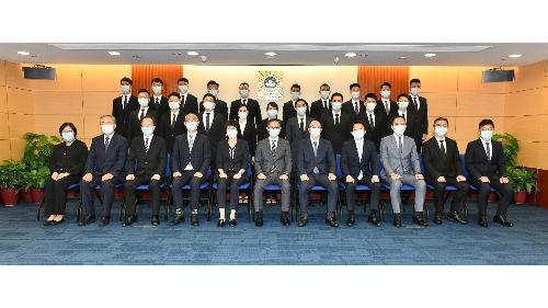 司警局舉行第20屆實習刑事偵查員培訓課程結業典禮及簽約儀式