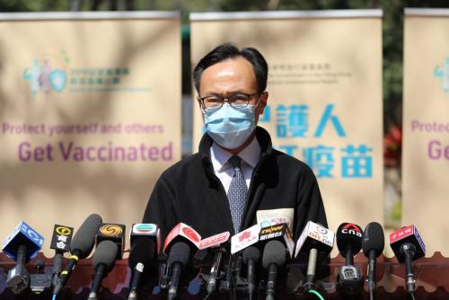 聶德權:截至今午6萬人已登記接種疫苗