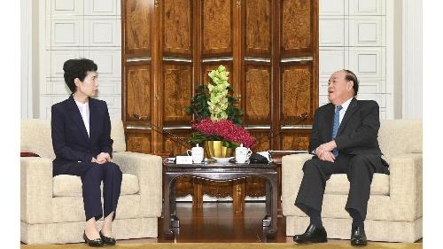 行政長官賀一誠與中國國際貿易促進委員會會長高燕會面